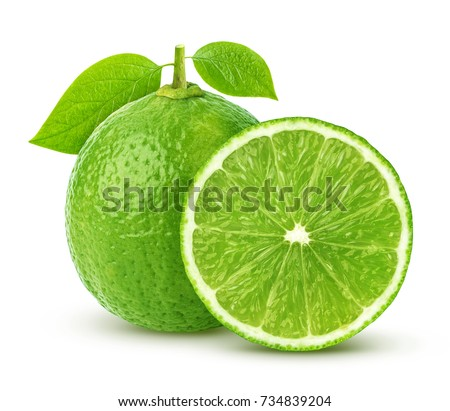 Lime isolated on white background #734839204