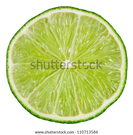 Lime isolated on white background with clipping path