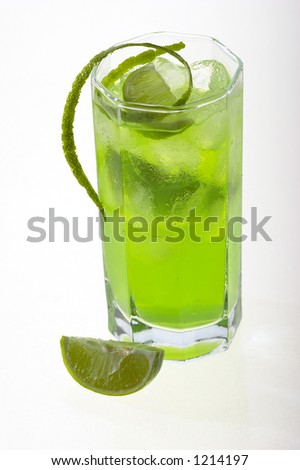 lime's cocktail with ice