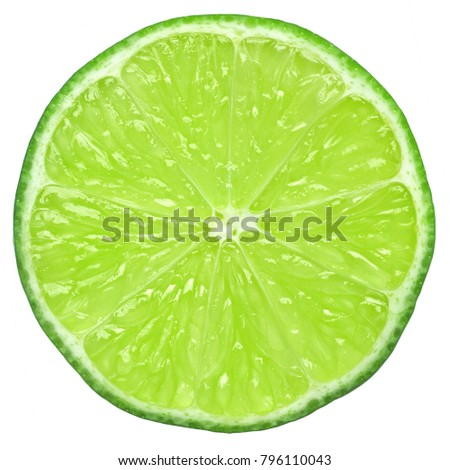 lime slice, clipping path, isolated on white background #796110043