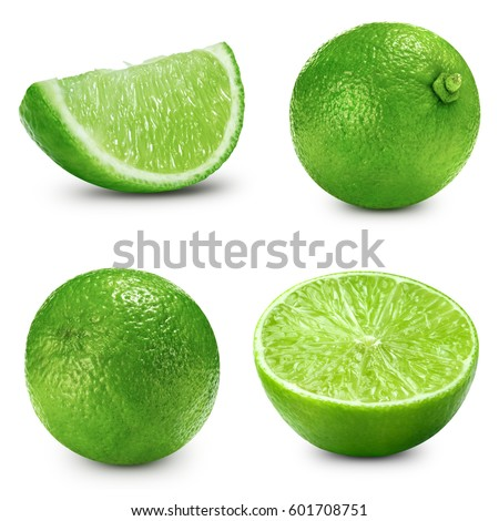 lime slice collection isolated Clipping Path #601708751