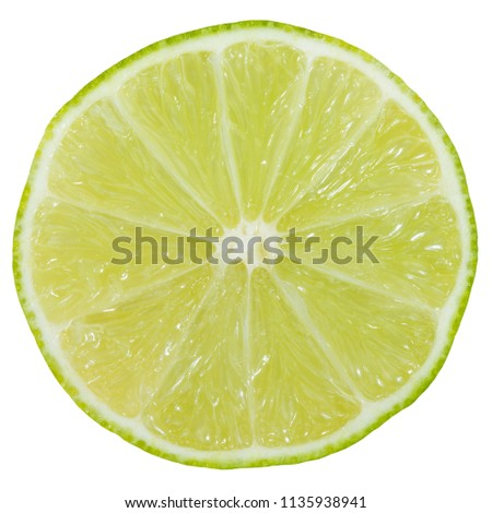 Lime slice fruit sliced isolated on a white background #1135938941