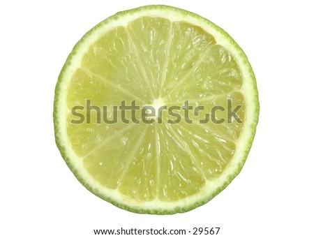 Lime slice on a white background. #29567