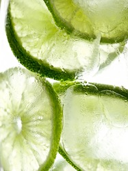 lime slices in ice macro