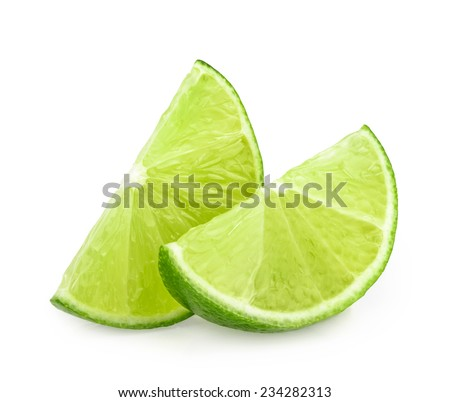 lime slices isolated #234282313