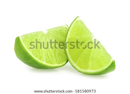 lime slices isolated #581580973