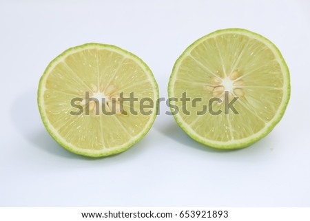 Lime Thai and lemon isolate on white background. #653921893
