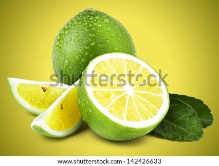 Limes on Coloured Background #142426633
