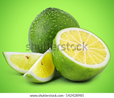 Limes on Coloured Background #142428985