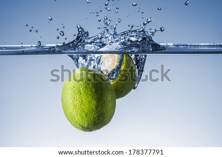 Limes splash with great detail and amazing colors