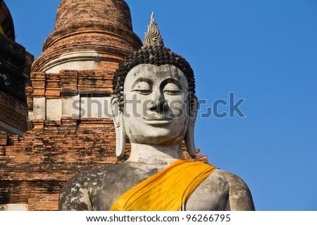 Limestone Buddhist state in  Thailand