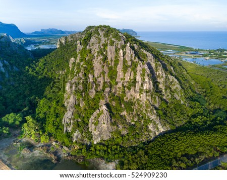 limestone mountains in sam roi...