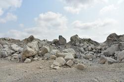 Limestone quarry, Cambodia.