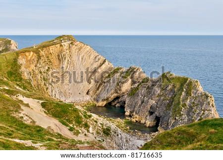 Limestone rock formation - stock photo