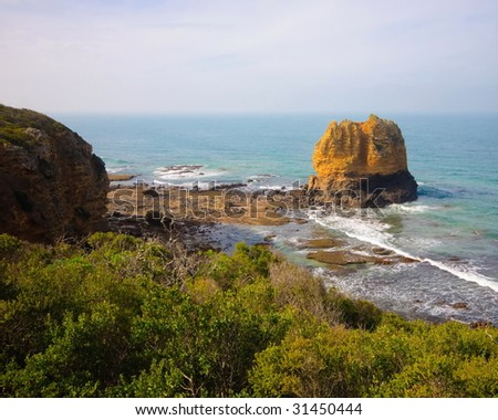Limestone stack near Great Ocean Drive in Australia