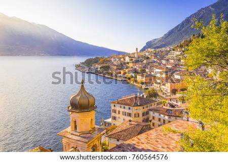 Shutterstock Limone sul Garda at dusk, Garda Lake, Brescia province, Lombardy, Italy