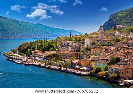 Shutterstock Limone sul Garda waterfront view, Lombardy region of Italy