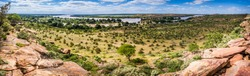 Limpopo river panoramic view in Mapungubwe national park, South Africa