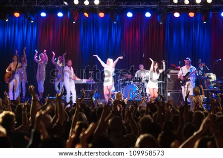 LINCOLN, CA - AUGUST 10: Abba - Arrival From Sweden performs at Thunder Valley Casino Resort in Lincoln, California on August 10, 2012