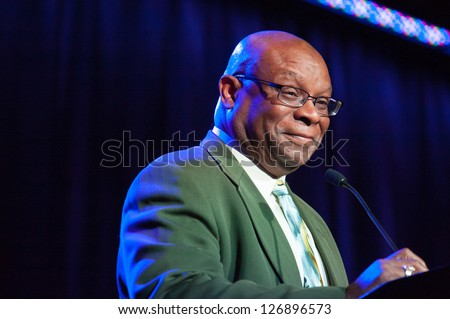 LINCOLN, CA - FEB 2: Rodney Baker introduces brother Dusty Baker at the Sacramento Sports Hall of Fame at Thunder Valley Casino Resort in Lincoln, California on February 2, 2013
