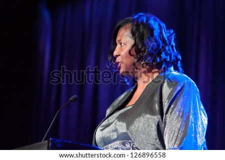LINCOLN, CA - FEB 2: Thelma Cartwright introduces Bill Cartwright at the Sacramento Sports Hall of Fame held at Thunder Valley Casino Resort in Lincoln, California on February 2, 2013