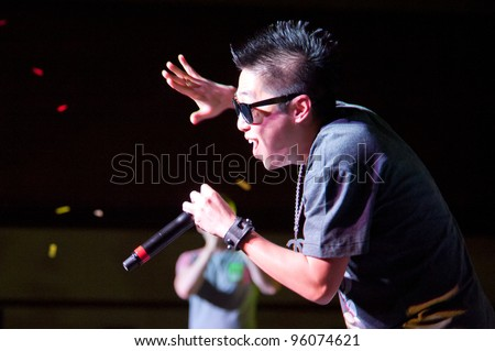 LINCOLN, CA - FEBRUARY 24: Danny Park K-Pop group Iammedic performs at Thunder Valley Casino Resort in Lincoln, California on February 24, 2012