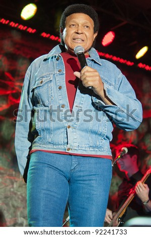 LINCOLN, CA - JAN 6: Chubby Checker performs at Thunder Valley Casino in Lincoln California on January 6, 2012