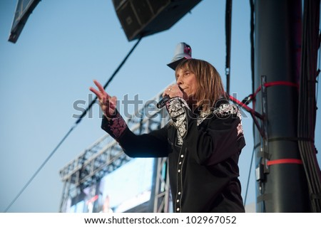 LINCOLN, CA - MAY 18: Jeff Keith lead singer for Tesla performs at Thunder Valley Casino Resort in Lincoln, California on May 18, 2012