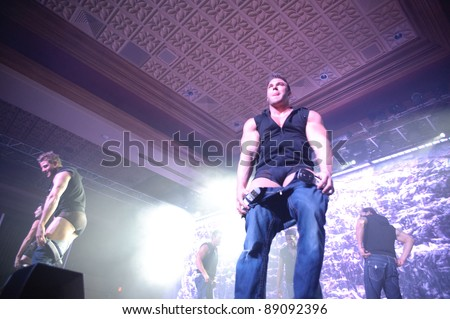 LINCOLN, CA - NOVEMBER 16: The Chippendales perform at Thunder Valley Casino and Resort in Lincoln, California on November 16, 2011 - stock photo