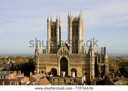 Lincoln Cathedral (also known as The Cathedral Church of the Blessed Virgin Mary of Lincoln) in Lincoln, England