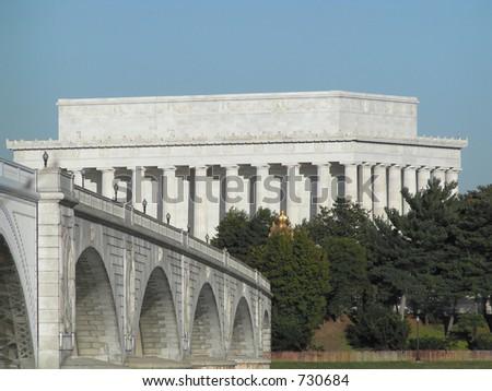 Lincoln Memorial and Memorial Bridge Washington DC