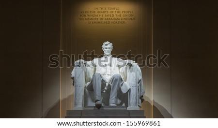 Lincoln Memorial at night Stock photo ©