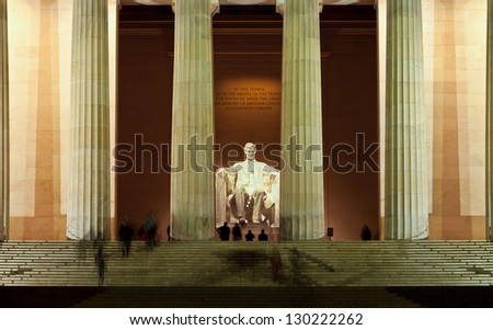 Lincoln Memorial at the National Mall. Washington DC