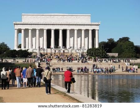 Lincoln Memorial in Washington DC, USA