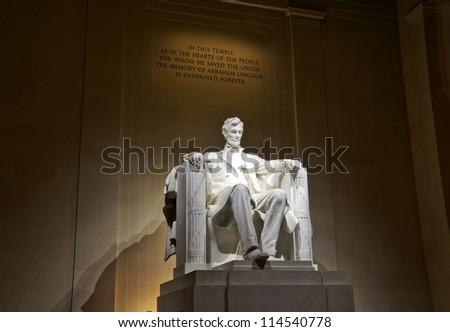lincoln memorial statue, Washington, DC - stock photo