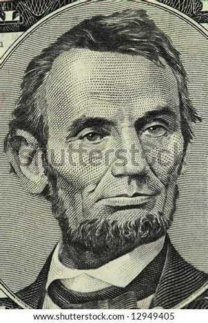 Lincoln portrait from a twenty dollar banknote