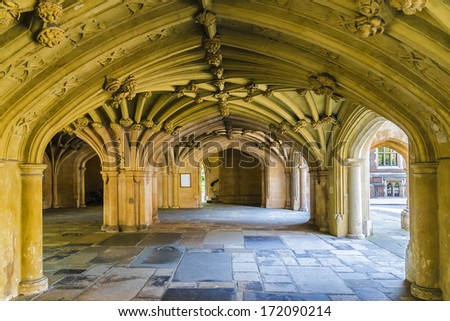Lincolns Inn Vaulted Ceiling. Honourable Society of Lincoln's Inn is one of four Inns of Court in London to which barristers of England and Wales belong and where they are called to the Bar.
