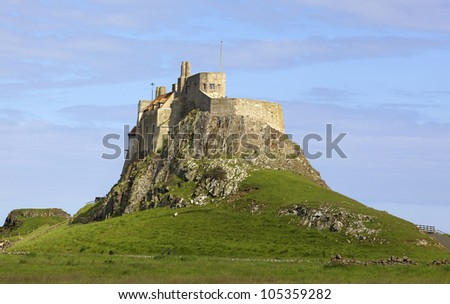 Lindisfarne Castle is a 16th-century castle located on Holy Island, near Berwick-upon-Tweed, Northumberland, England.