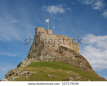 Lindisfarne Castle on Holy Island, Northumberland, England