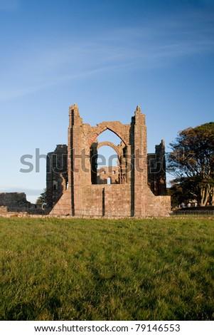 Lindisfarne priory on Holy Island  Northumberland England