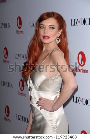 """Lindsay Lohan at the """"Liz and Dick"""" Premiere Private Dinner Event, Beverly Hills Hotel, Beverly Hills, CA 11-20-12"""