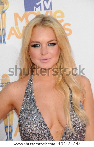 Lindsay Lohan at the 2010 MTV Movie Awards Arrivals, Gibson Amphitheatre, Universal City, CA. 06-06-10