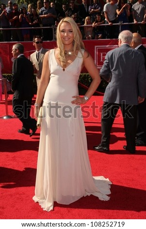 Lindsey Vonn at the 2012 ESPY Awards Arrivals, Nokia Theatre, Los Angeles, CA 07-11-12