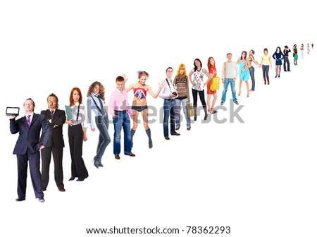 Line Concept Team - stock photo