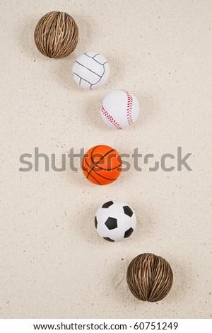 line of balls - stock photo