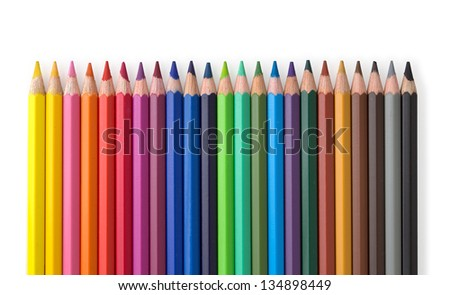 line of colored pencils #134898449