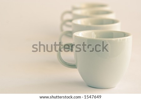 Line of cups background