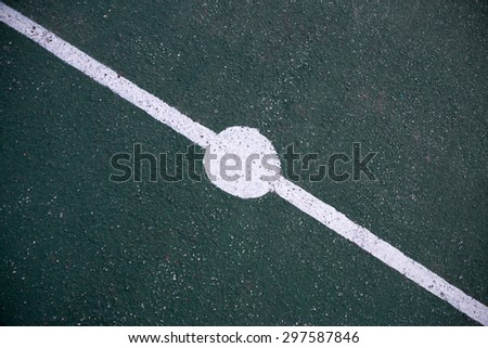 Line on sport court