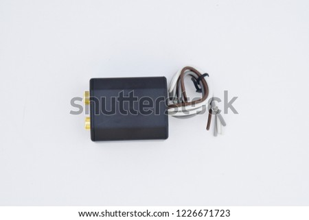 line output converter isolated on white bckground, car accessories