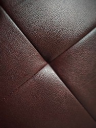 line square on the leather sofa